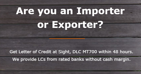 Letter of Credit - MT700 - LC Providers - LC at Sight - DLC MT700